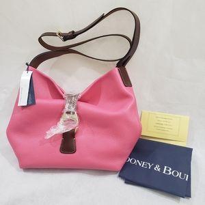 Dooney & Bourke Derby pink leather crossbody hobo
